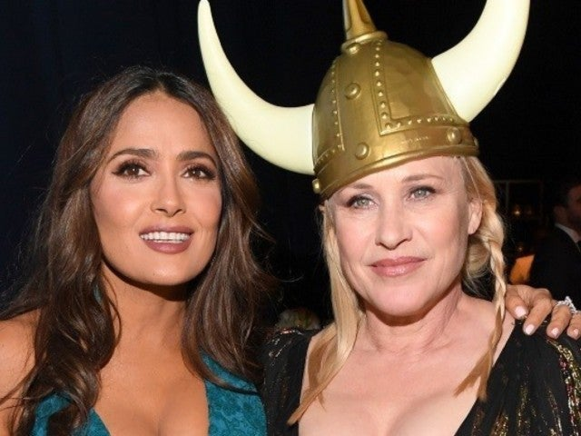 Golden Globes 2020: Salma Hayek Reveals Stunning Pic With Patricia Arquette in a Viking Helmet