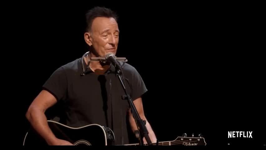 Springsteen on Broadway Official Trailer Netflix screen capture