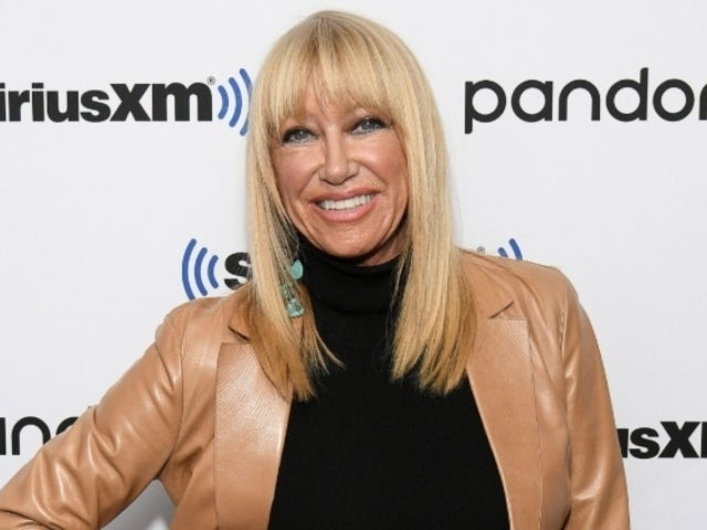 Suzanne Somers Spotted With Crutches Suffering Fractured Hip
