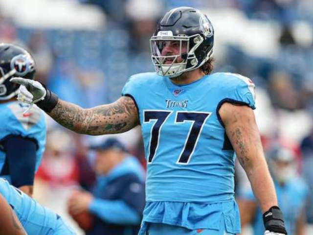 Tom Brady's 'Too Late to Be Scared' Video Mocked by Titans Tackle Taylor Lewan