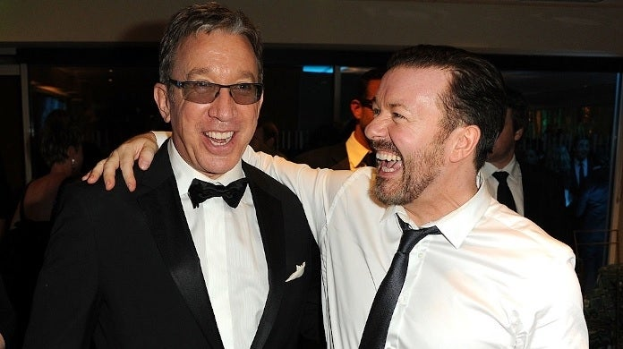 tim allen ricky gervais getty images