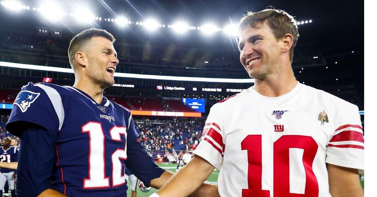 Tom Brady tweet Eli Manning retirement speech Patriot fans going wild