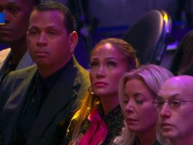 Kobe Bryant Celebration of Life: Jennifer Lopez and Alex Rodriguez Cry at Kobe and Gianna Public Memorial