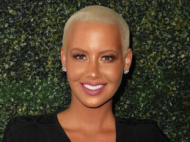 Amber Rose Reveals Forehead Tattoo Bearing Her Kids' Names