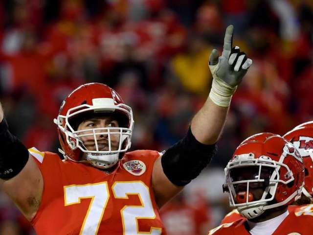 Watch Chiefs' Eric Fisher Channel 'Stone Cold' Steve Austin by Chugging Two Beers at Super Bowl Parade