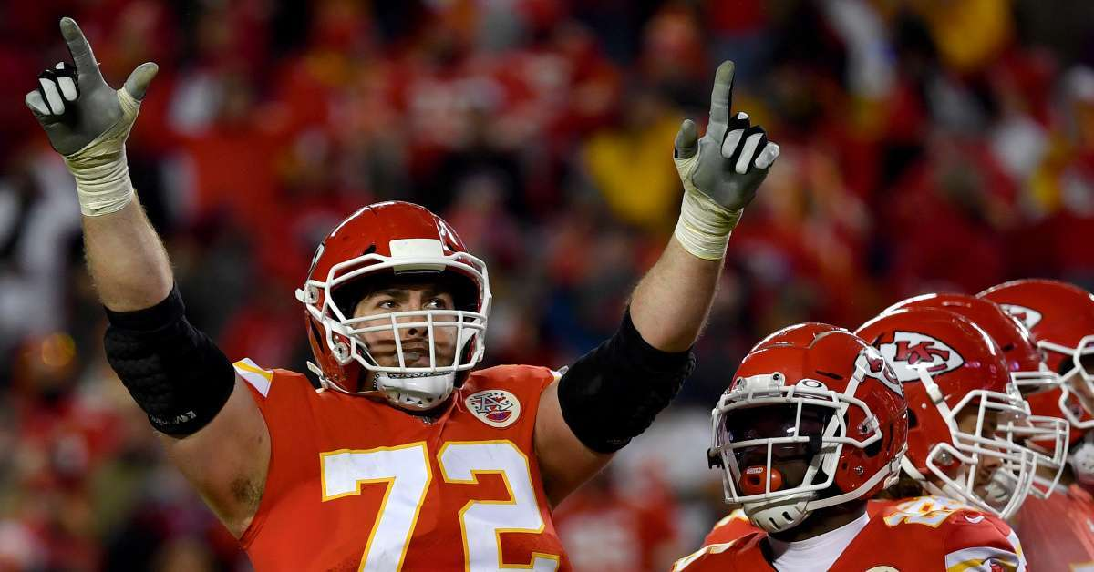 Chiefs Eric Fisher Stone Cold Steve Austin chugging two beers Super Bowl parade
