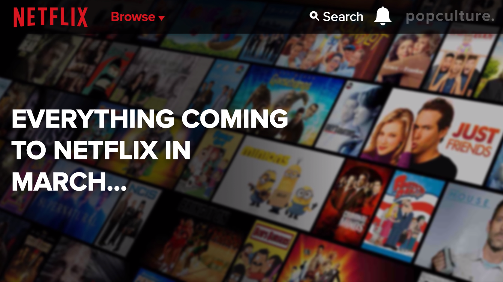 Coming to Netflix - March 2020 screen capture
