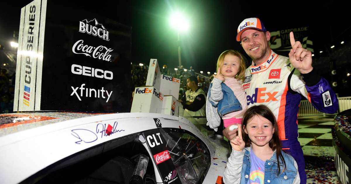 Daytona 500 Denny Hamlin predicted win 7 years old