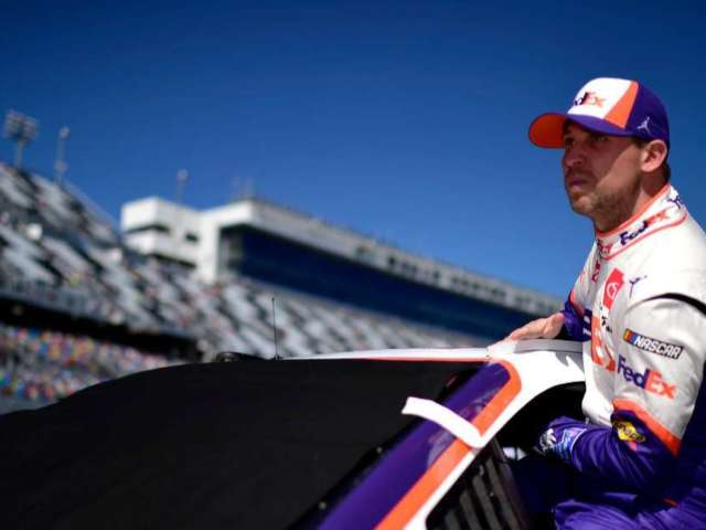 Daytona 500: Denny Hamlin Fans React After He Clarifies Controversial Celebration Following Ryan Newman Crash
