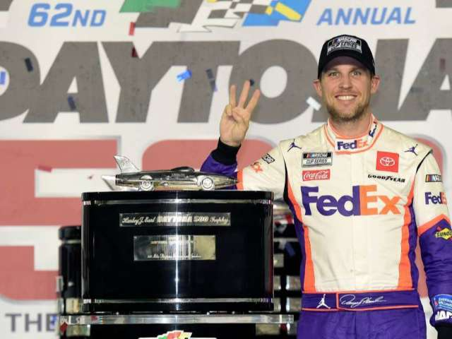 NASCAR Shares Photo of Denny Hamlin With Daughters Following News of Ryan Newman's Recovery Amid Daytona 500 Win