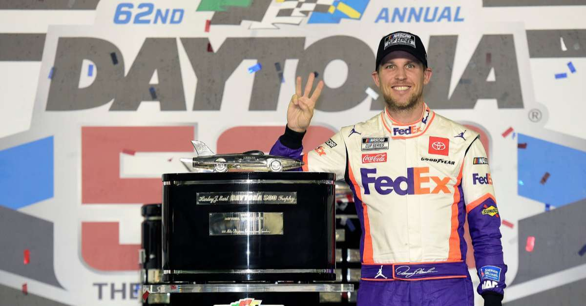 Denny Hamlin Daytona 500 daughters NASCAR shares photo