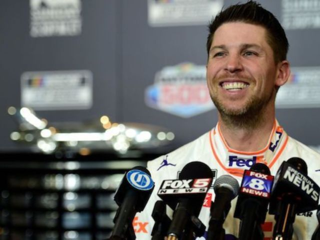 Denny Hamlin Talks 'Unusual Set of Circumstances' Following Daytona 500 Win Amid Ryan Newman Crash