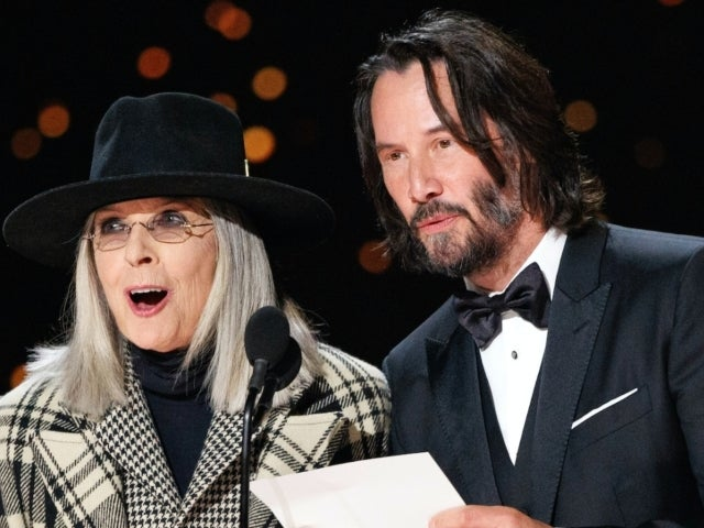 Oscars 2020: Diane Keaton Nearly Knocked Over Mic During Award Presentation, and Fans Loved It