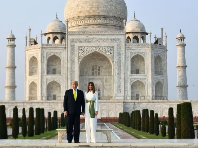 Twitter Reacts to Awkward Photo of Donald Trump and Melania Standing Side-by-Side at Taj Mahal