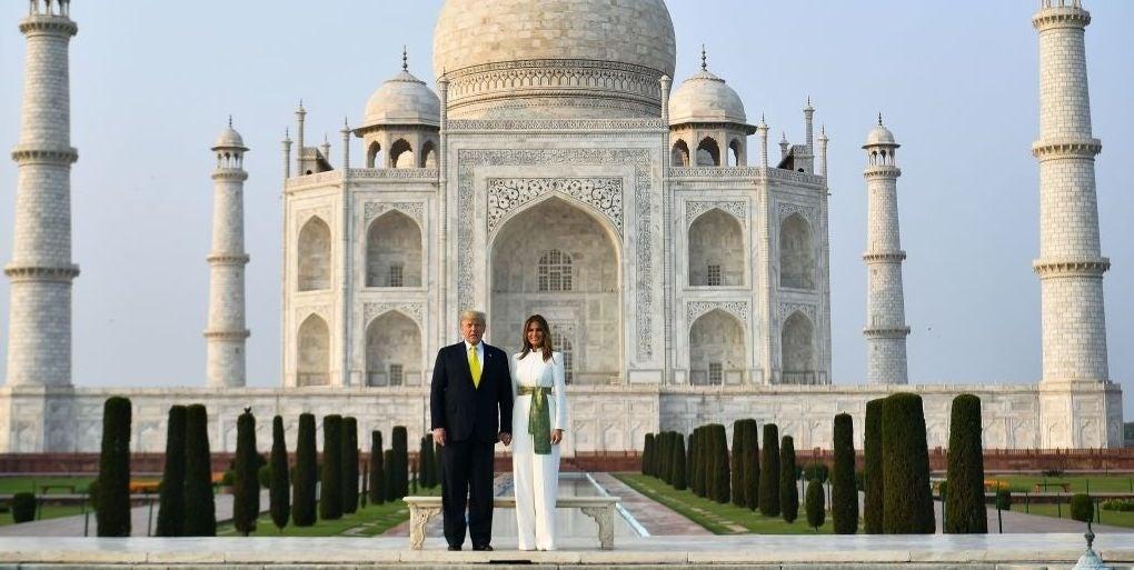 Donald Melania Trump Taj Mahal