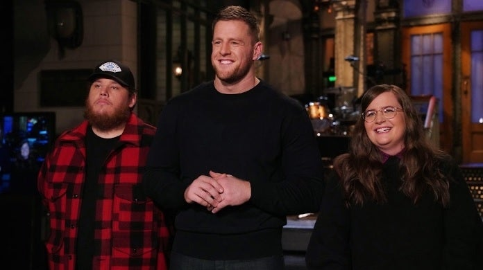 jj watt luke combs snl getty images nbc