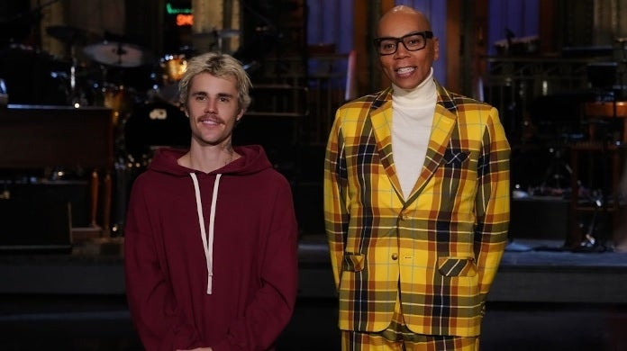 Justin Bieber rupaul snl getty images