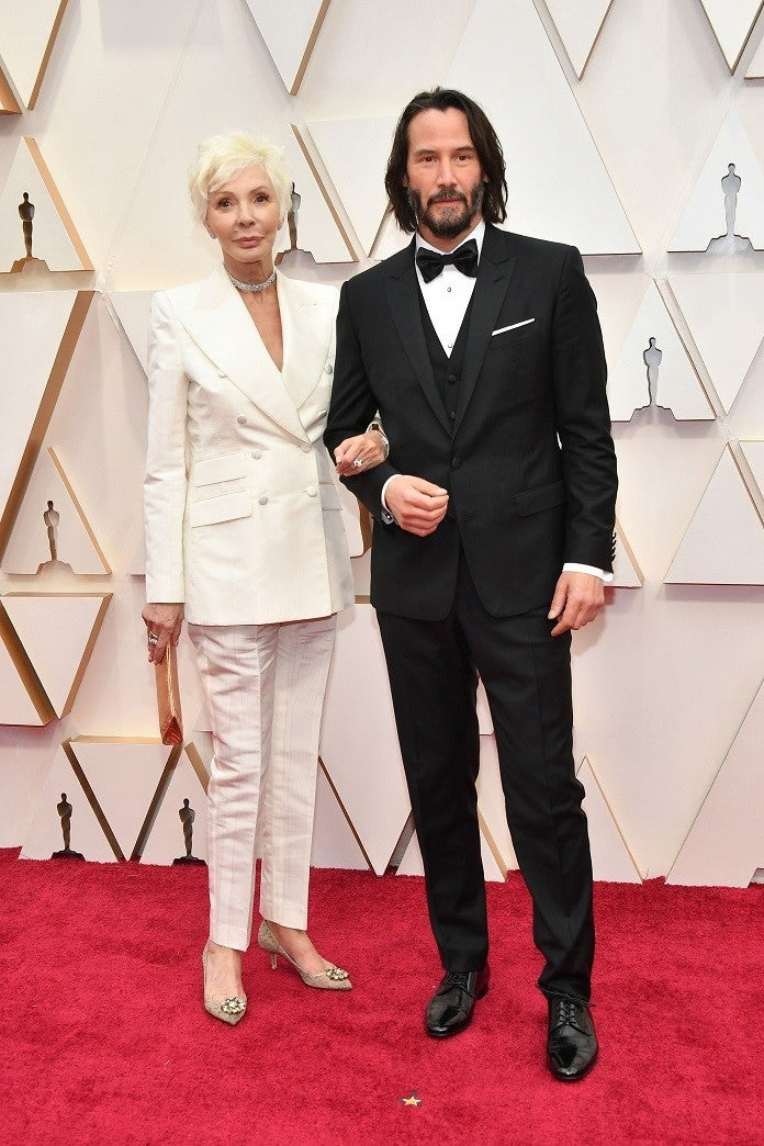 keanu-reeves-mom-patricia-taylor-oscars-2020-getty