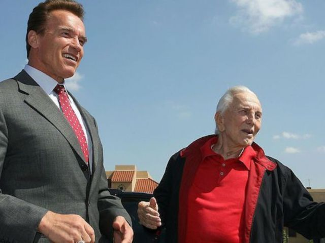 Kirk Douglas Mourned by Arnold Schwarzenegger, Who Calls Him 'Real Life Hero' and 'Perfect Mentor'
