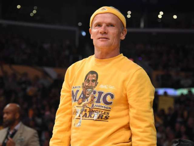 Kobe Bryant: Red Hot Chili Peppers' Flea Pays Tribute to Lakers Icon With Old School Look