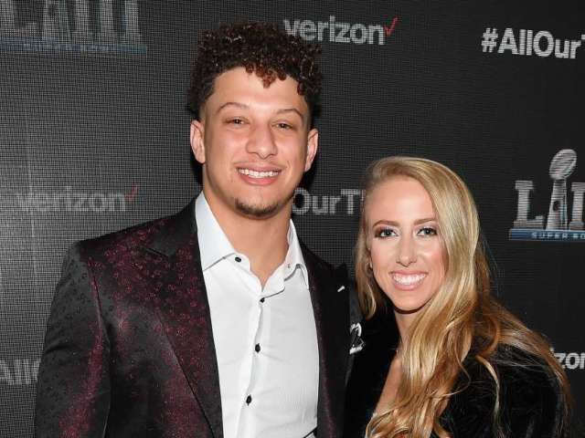 Patrick Mahomes and Girlfriend Brittany Matthews Lock Lips After Kansas City Super Bowl Celebration