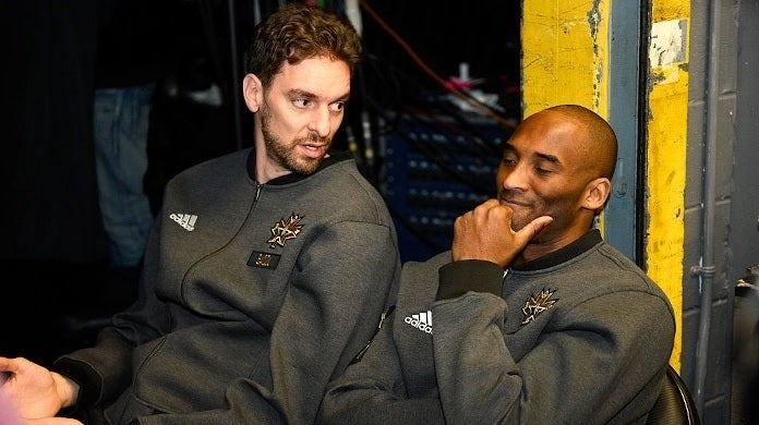 pau gasol kobe bryant getty images