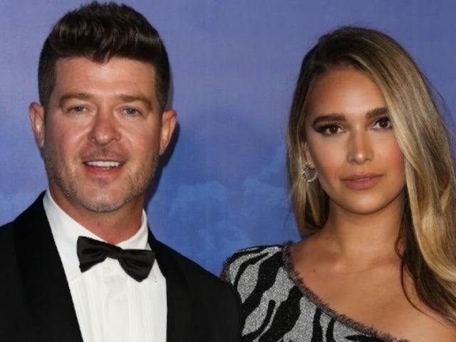 Robin Thicke's Fiancee April Love Geary Claps Back at Mom Shamers After Posting Racy Valentine's Day Photo