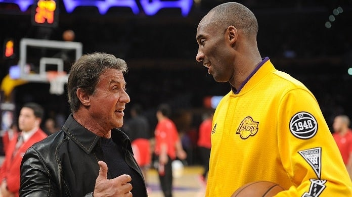 sylvester stallone kobe bryant getty images