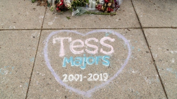tessa majors memorial getty images 2