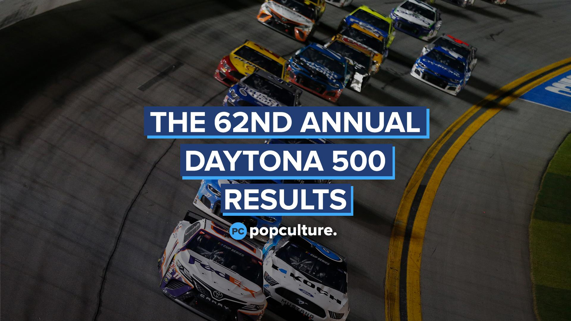 The 62nd Annual Daytona 500 Results - Denny Hamlin Wins, Ryan Newman Crash Update screen capture