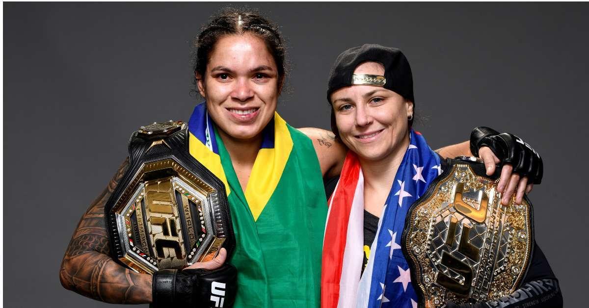 Amanda Nunes Nina Ansaroff UFC champion first child september
