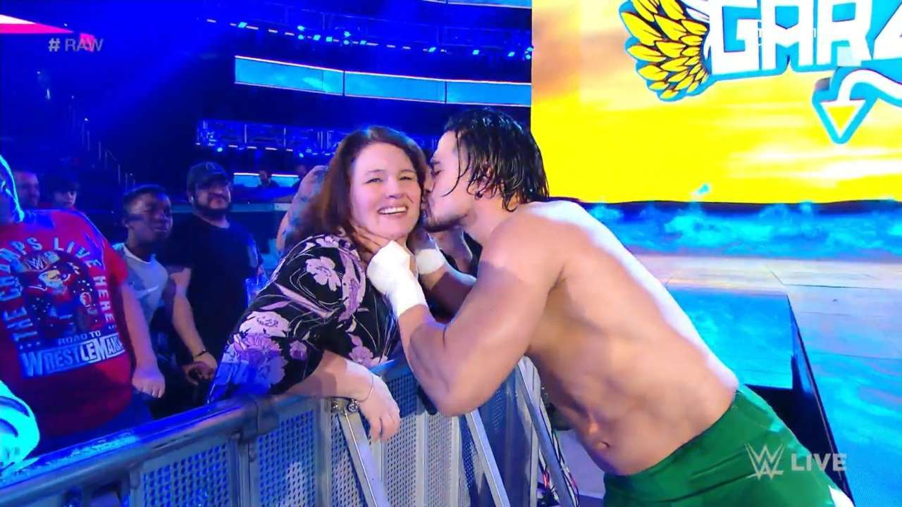 Angel Garza kiss wwe