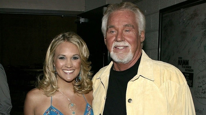 carrie underwood kenny rogers getty images