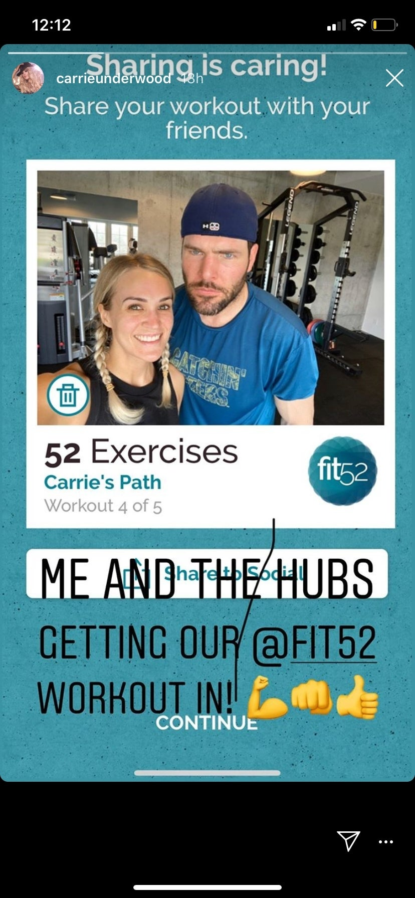 carrie underwood mike fisher fit52 app