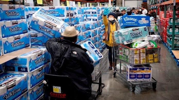 costco coronavirus shopping getty images