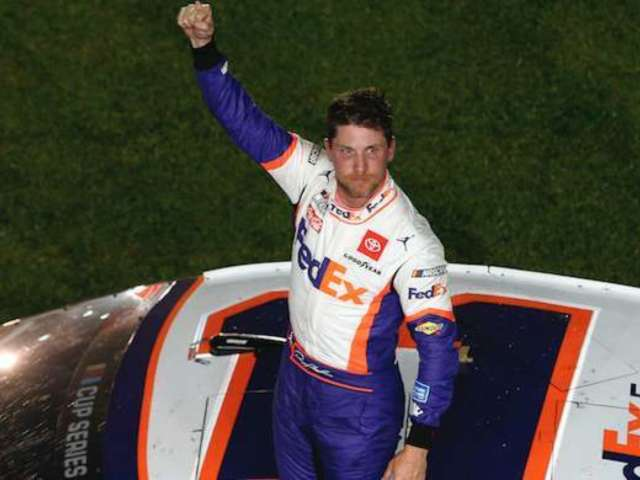 NASCAR: Denny Hamlin Cracks Joke About Rear-Ending, and Ryan Newman and Kyle Larson Fans Are Not Pleased