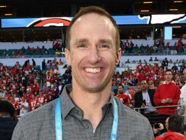 Drew Brees Plays Basketball With Son Callen Amid Coronavirus Pandemic