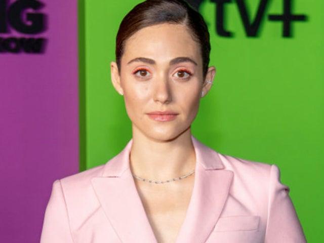 'Shameless' Alum Emmy Rossum's Beach Transformation Shows off Skimpy Bikini Filming 'Angelyne'