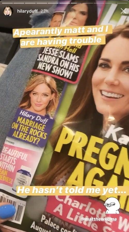 Hilary Duff marriage rumors