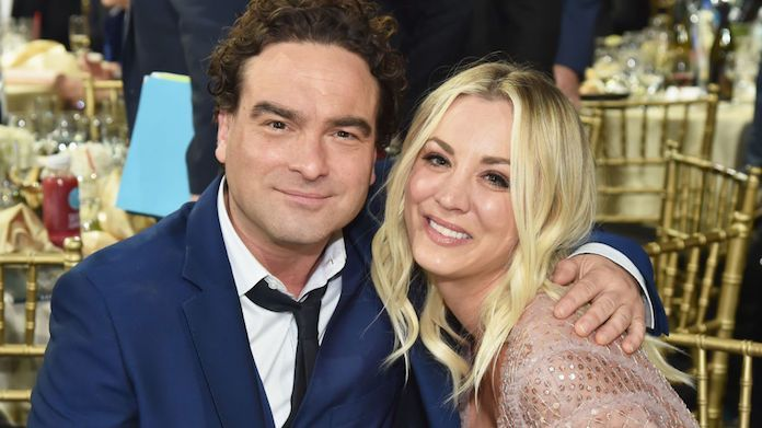 kaley-cuoco-johnny-galecki-getty