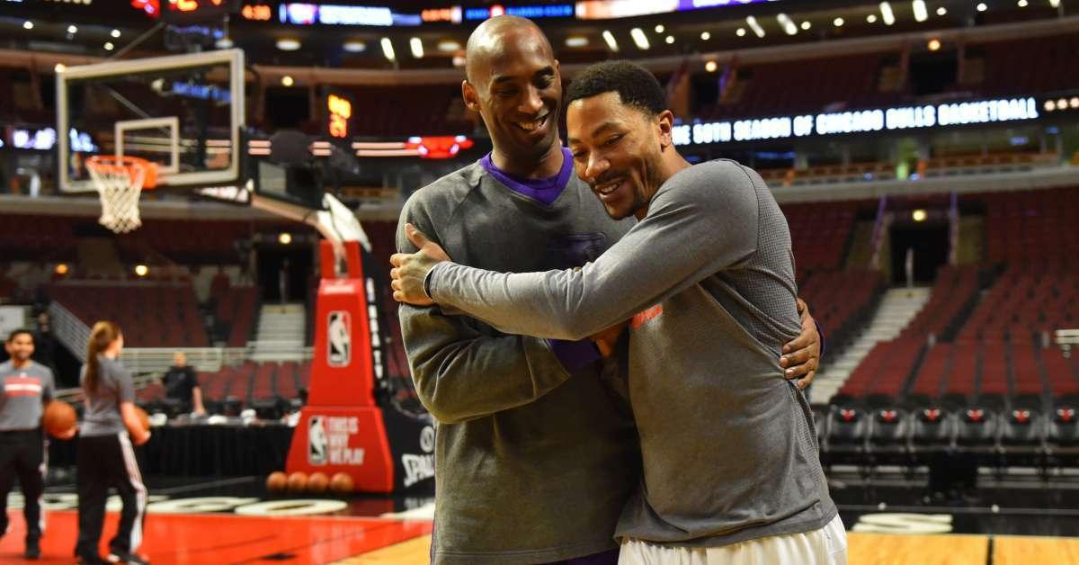 Kobe Bryant Derrick Rose thowback NBA 2K10 commercial
