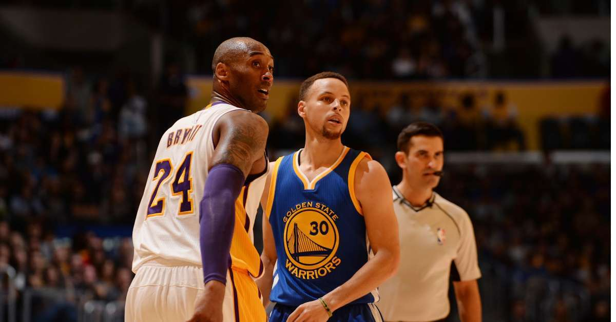 Kobe Bryant Steph Curry Warriors Lakers icon injury rehab