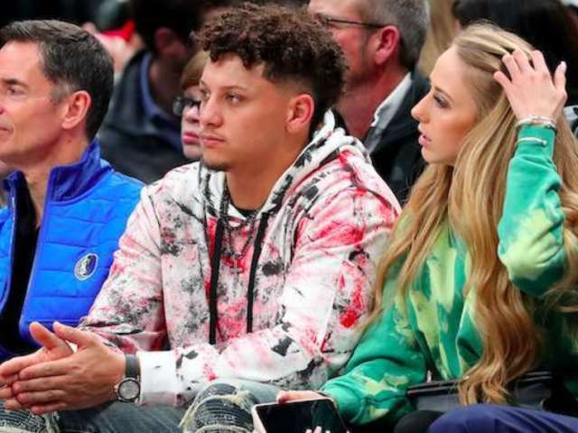 Patrick Mahomes and Brittany Matthews Spend Date Night Courtside at Mavericks Game
