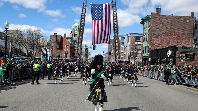 st patrick's day parade boston getty images