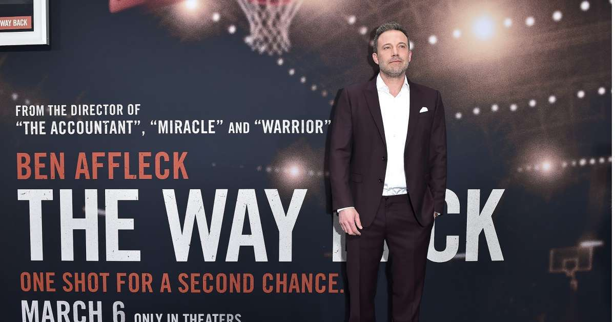 The Way Back Ben Affleck basketball drama box office first weekend