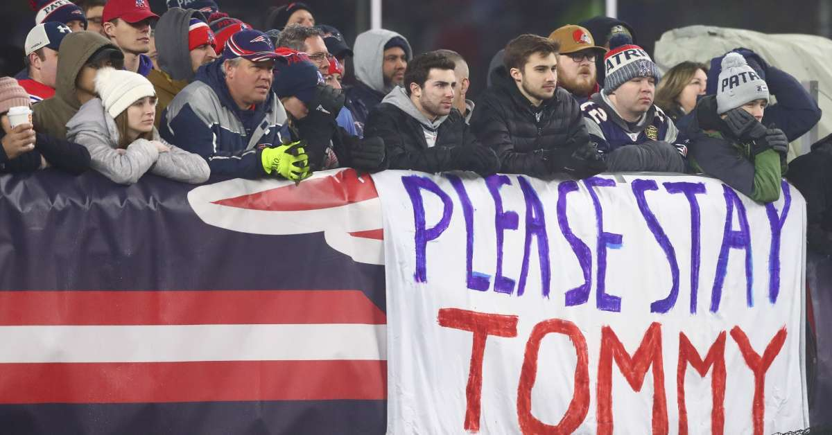 Tom Brady England Patriots departure fans ballistic