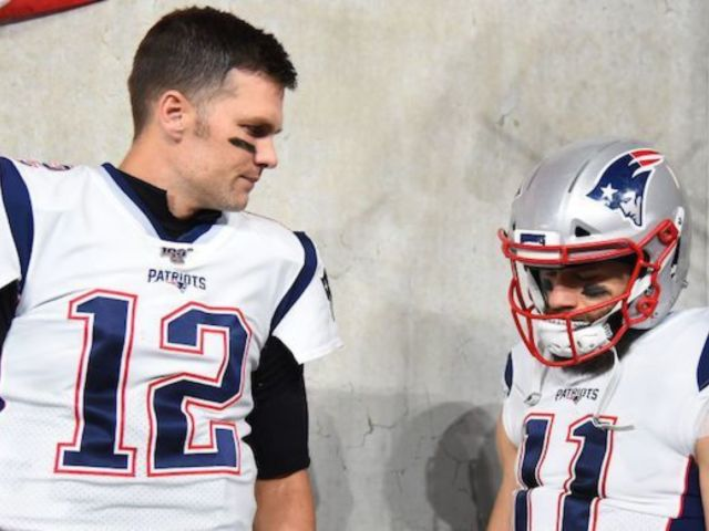 Tom Brady Gives Questionable Smile After Patriots Teammate Julian Edelman Says QB Is 'Coming Back'