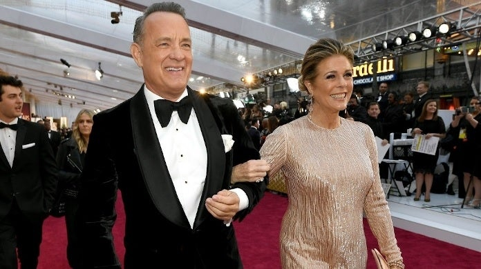 tom hanks rita wilson oscars getty images 2020