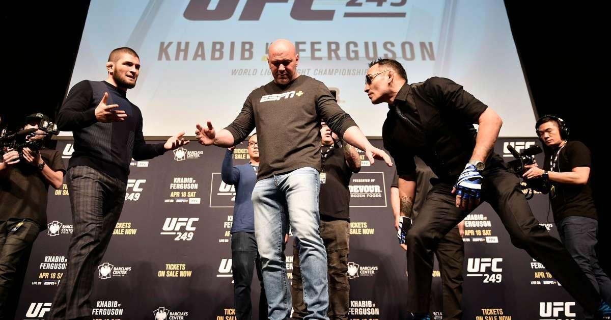 UFC postponing 3 events Khabib Nurmagomedov Tony Ferguson still happening