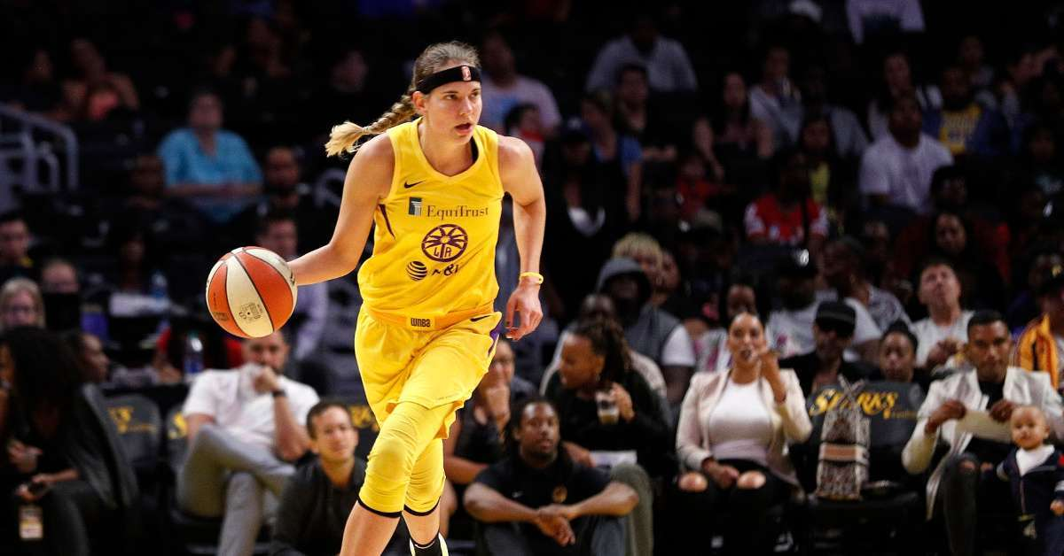 WNBA Sydney Wiese Los Angeles Sparks guard coronavirus tests positive